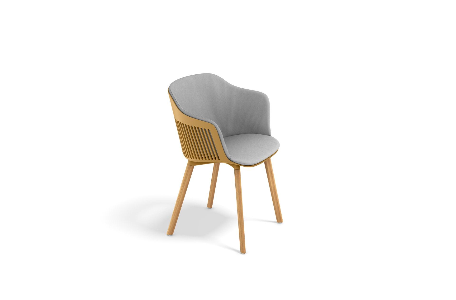 DEDON-AIIR-Armchair-teak-cushion-saffron