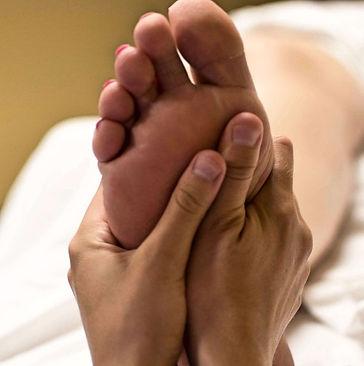 foot massage equals relief