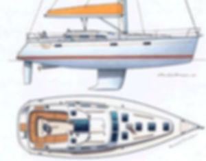 Rendering of Beneteau 393