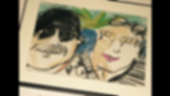 Crayon cartoon of us from the Elbow room in FLL