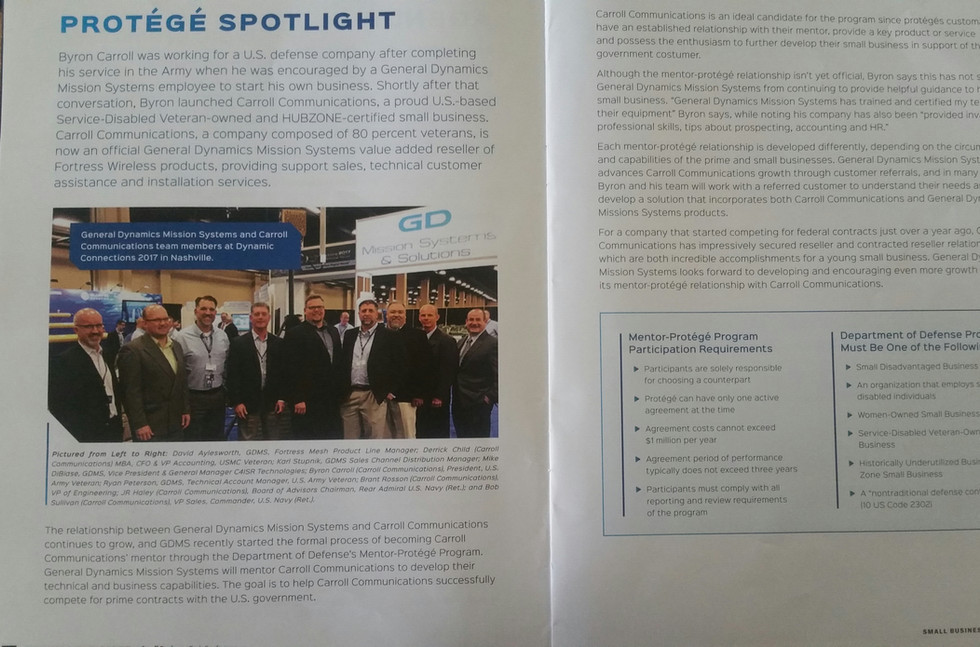 Carroll Communications GD Spotlight Article
