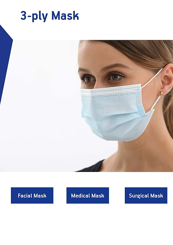 3-Ply Mask, Fase MAsk, Medical Mask, Sergical Mask, Mask