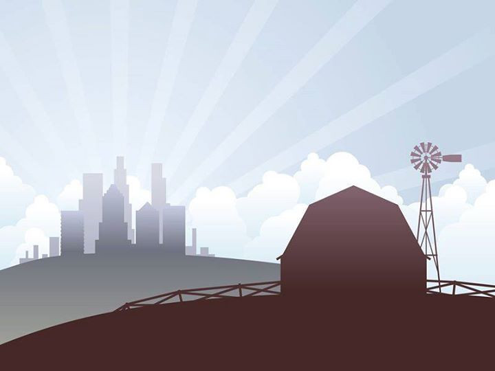 Illustration _ to the farm at the city.j