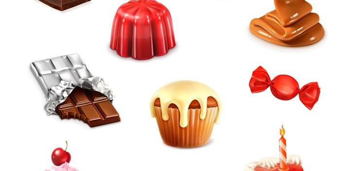 Confectionery, vector set 3__Confectione
