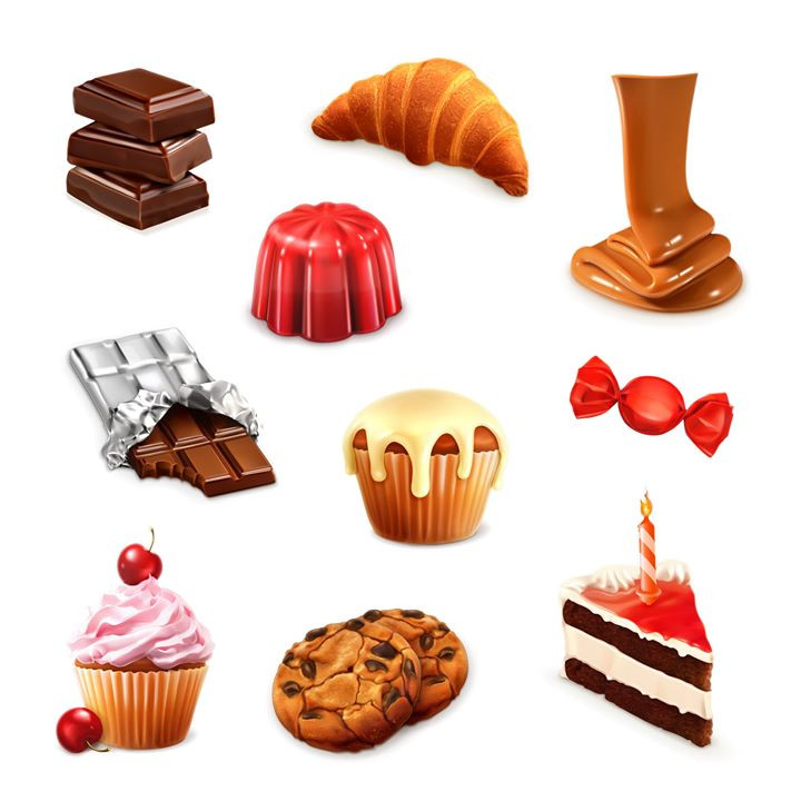 Confectionery, vector set 3__Confectione