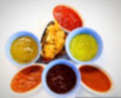 Mexican Table Sauces, Drunken Salsa, Tomatillo Salsa, Salsa Roja