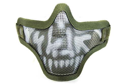 NUPROL MESH LOWER FACE SHIELD SKULL - GREEN