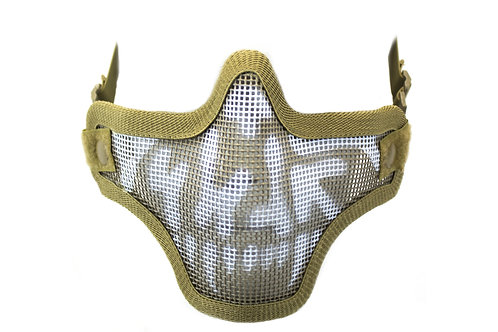 NUPROL MESH LOWER FACE SHIELD SKULL - TAN