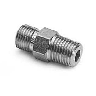 1/8 NPT stainless steel male to male adapter