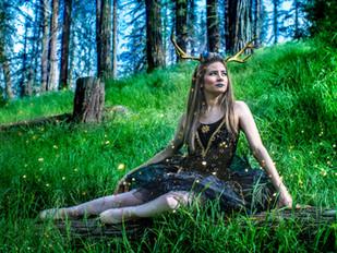 """"""" Deer Dance in The Garden of Eld """""""