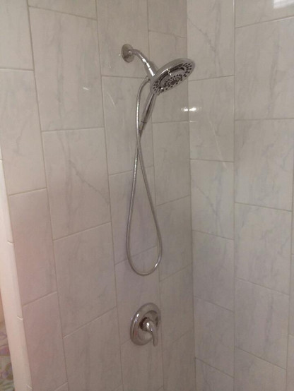 Shower project completed