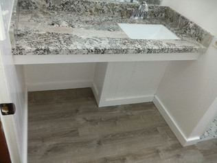 Custom vanity with Granite