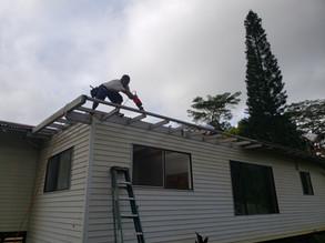 Roof re frame