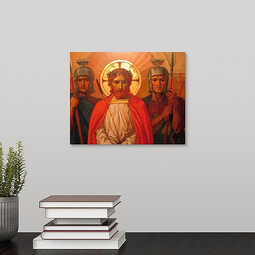 Henry Thomas Bosdet historic canvas print - Jesus Before His Crucifixion