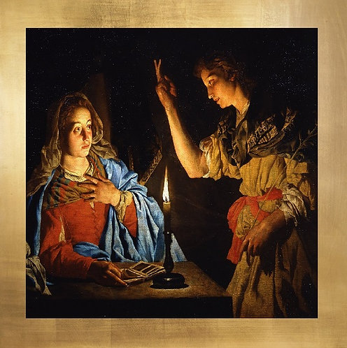 The Annunciation canvas decorative mini- Matthias Storm