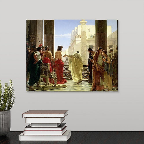 Antonio Ciseri canvas historical art print -Ecce Homo (Behold the Man)