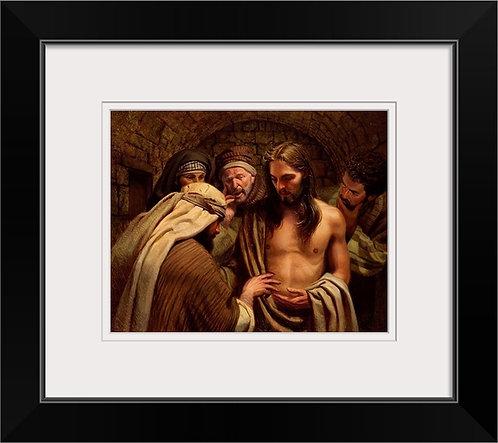 Frank Ordaz framed print The Believer