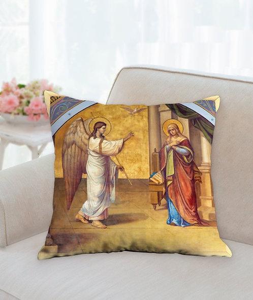 Annunciation 13 x 13 decorative pillow