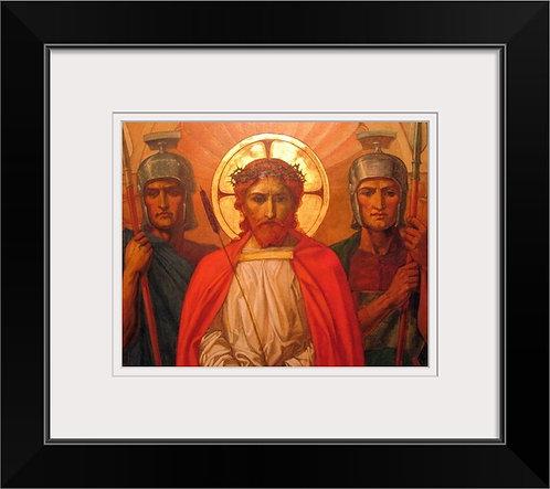 Henry Thomas Bosdet historic framed print - Jesus Before His Crucifixion
