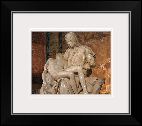 Michelangelo's Pieta framed wall print