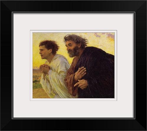 Eugene Burnand canvas historical art print - The Disciples Peter and John