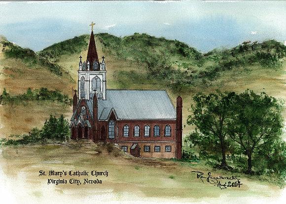 St. Mary's Catholic Church, Virginia City, NV