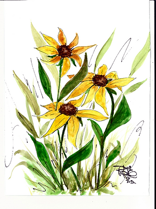 Sunflower Delight - with greeting inside.