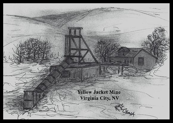 Yellow Jacket Mine,         Virginia City, NV