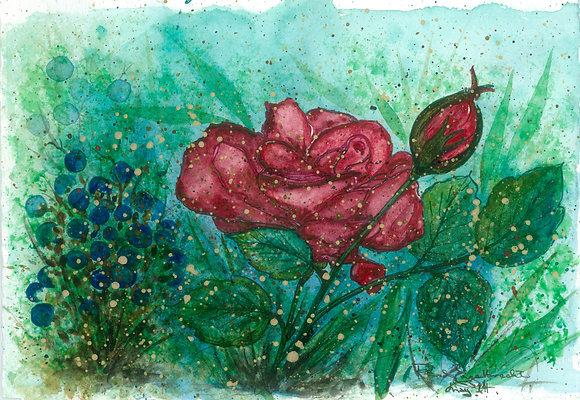 Painted Rose Flower