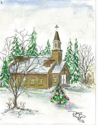 """Christmas Memories"" with greeting & Bible verse"