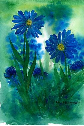 Blue in the Garden