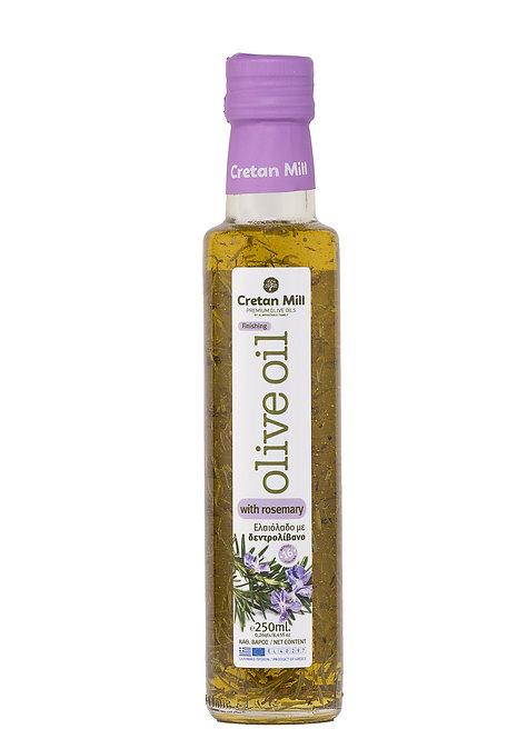 Olive Oil with Rosemary 250ml Cretan Mill