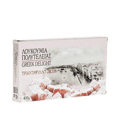 Luxury Greek Delights (Loukoumia) Rose 400g Meletiadis