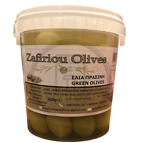 Green Olives Mammoth 600g Zafiriou