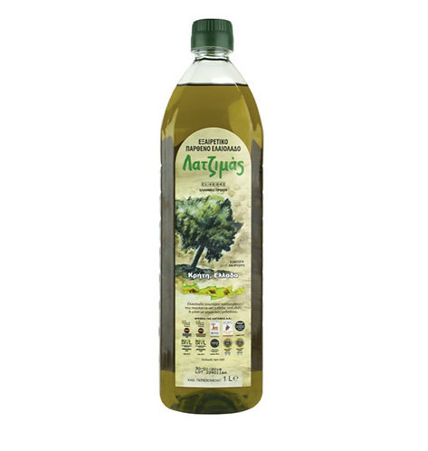 Latzimas Extra Virgin Olive Oil 1 Lt Cold Pressed