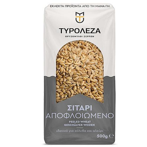 Peeled Wheat (Apofloiomeno Sitari) 500g Tyroleza