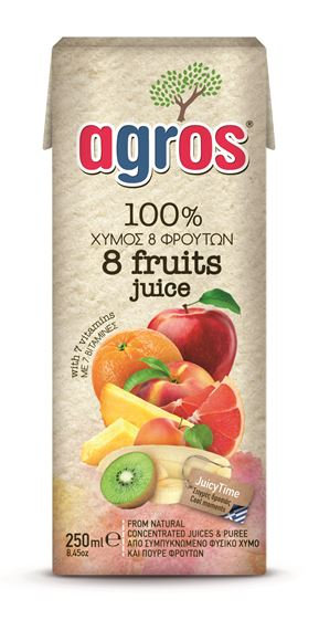 8 Fruits Juice 250ml Agros