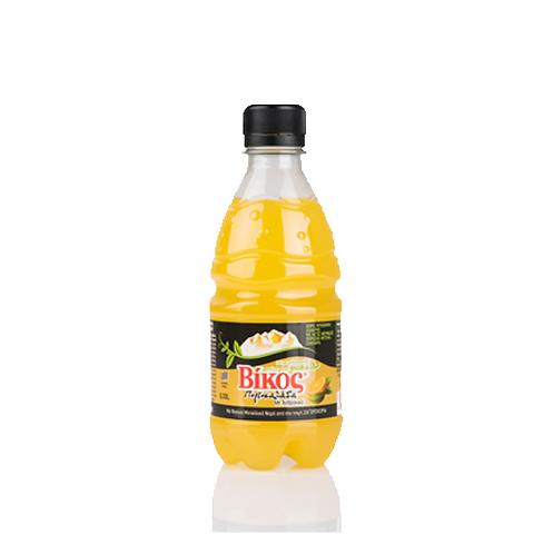 Orange Carbonated Soft Drink With Stevia 330ml Vikos