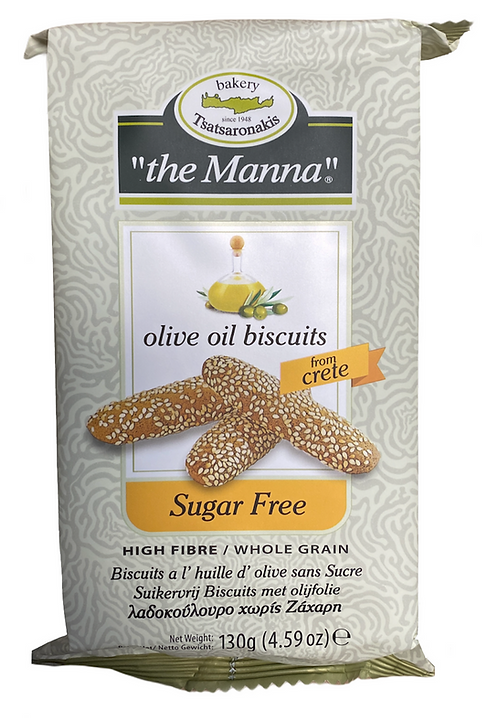Handmade Olive Oil Biscuits with No Sugar 130g To Manna