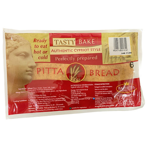 Large Cypriot Pitta Bread 6 Pieces