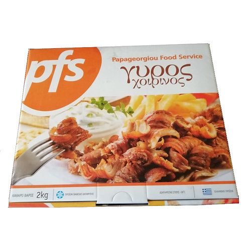 Pork Gyros Precooked and Stripped 2Kg PFS
