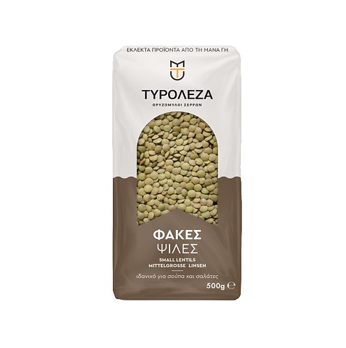 Brown Medium Lentils (Psiles Fakes) 500g Tyroleza