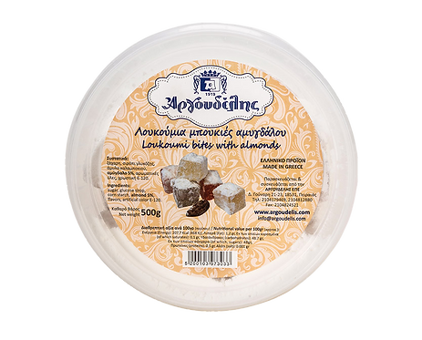 Loukoumi Bites with Almonds 500g Argoudelis
