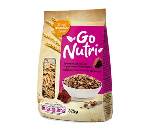 Crunchy Muesli with Chocolate 375g Go Nutri