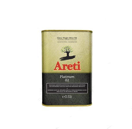 Areti Extra Virgin Olive Oil Platinum 500ml Cold Pressed