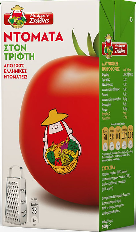 Grated Tomatoes 500g Barba Stathis