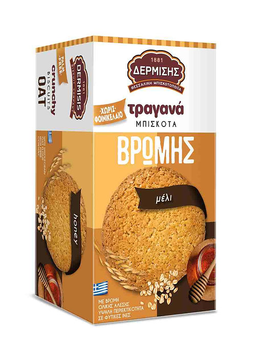 Crunchy Oat  Biscuits with Honey 180g Dermisis