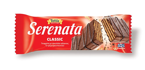 Milk Chocolate Wafers Filled with Hazelnut Cream 33g Serenata