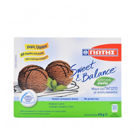 Sweet and Balance Mix for Ice cream Chocolate Flavour 216g
