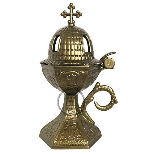 Home Incense Burner (Livanistiri) Aged Bronze